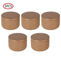 Storage Bottles & Jars 5 Tinplate Drum Jar Solid Color Candy Box Tea Container Candle Tins With Lid For DIY Making Holding Metal Tin