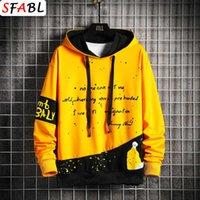 Sweatshirts Sfabl Harajuku Hoodie Sweatshirt Männer Hip Hop Streetwear Männliche Mode Patchwork Trui Bunte Pullover Mann