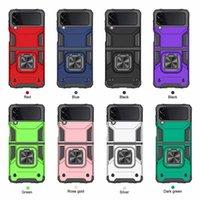 Samsung z flip 3 5g cases armor ultra slim ring holder stand protector phone case
