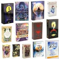 Beaucoup de styles Tarots Game Sorcière Rider Smith Waize Shadowscapes Wild Tarot Deck Board Cartes avec boîte colorée Version anglaise