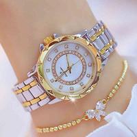 럭셔리 남성과 여성 시계 디자이너 브랜드 시계 몬트 테 Diamant 쏟아지는 Femmes, Marque De Luxe, LGante, Strass 또는 Rose,