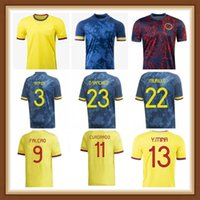 Kolombiya 2021 2022 Duvan Zapata Futbol Formaları 20 21 22 Davinson Sanchez James Copa Amerika Falcao Mina Camiseta De Futbol Maillot Kadınlar PL
