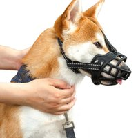 Pet mask biting and anti barking cover mesh adjustable size dog mouth coverZ1F4
