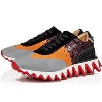 LOUBISHARK Tasarımcısı Kırmızı Alt Sneakers Çizmeler erkek Baskılı Spor Ayakkabı Rahat Koşu Ayakkabı ile Redd Tabela Flats Açık Yürüyüş Moda Trainers2021New477
