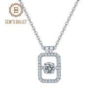 Gem's Bale Kadınlar için 925 Ayar Gümüş Kolye Düğün Takı Pırıltı Ayar Moissanite Taş Kolye Kolye 210319