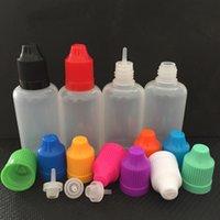 60ml E-Saft E-Liquid-Nadel-Dropper-Flasche VAPE EZIG-Öl-LDPE-Haustier-Kunststoff wiederverwendbare Flaschen Behältergefäß mit kinderfesten bunten Kappen