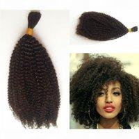 4b 4c Bulk Capelli umani per intrecciare l'ascelle peruviana Afro Kinky Ricci estensioni di capelli Bulk Nessun allegato Fdshine