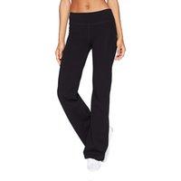 Mulheres Casual Cor Sólida Slim Quadris Solto Yoga calças largas perna calças esportivas treino fitness calças sportswear legging yoga pantssoccer jerse