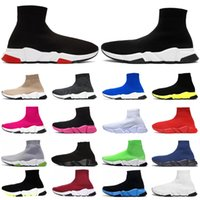 Balenciaga sock speed trainer shoes Luxury Sock Casual Shoes Men Women Designer Platform Sneakers Triple Black White Red Beige Navy Blue Outdoor Sport Shoe