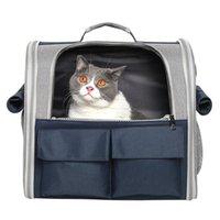 Katzenträger, Kisten Häuser Tasche ausgehen Tragbare Haustiere atmungsaktive Schulreise Folding Schulter Rucksack Lieferungen Faltbar leicht zu reinigen