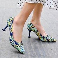 하이힐 섹시한 crossdressers 신발 여성 패션 굽한 숙녀 샌들 뾰족한 발가락 큰 크기 얕은 입 샌들