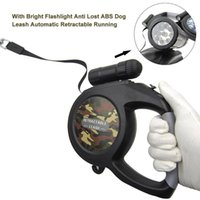 Dog Collars & Leashes Leash Portable ABS Running Pet Supplies Button Brake With Bright Outdoor Automatic Retractable Moving Free