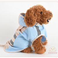 Водонепроницаемый дождевой дождевой дождевой куртки комбинезон для щенка Нейлон с высоким воротником Регулируемые светоотражающие толстовки пальто небольшая средняя одежда