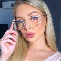 مثير المرأة القط العين القراءة النظارات إطارات الكمبيوتر المضادة الأزرق ضوء مصمم السيدات النظارات البصرية الأزياء النظارات الشمسية