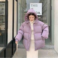 Новые 2020 Женщины Короткие Куртки Зимние Толстые Капшовные Хлопковые Пальто Корейский Свободные Puffer Parkas Дамы Негабаритные