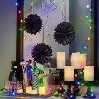 Cuerdas 10/20m USB Twinkle Luces de cadena de cobre Strip de alambre de cobre Firework Fairy Light Wedding Christmas Party Home Outdoor Decoración interior