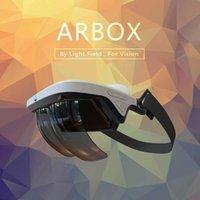 Efeitos holográficos da caixa dos vidros AR aumentados realidade do capacete inteligente 3d virtual com glasse do punho de controle