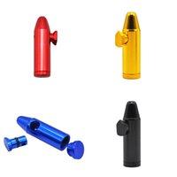 Алюминиевая металлическая пуля в форме ракетной формы Sniff Snorter Dispenser Nasal Coffer Pipe Sniffer Стеклянные бонги Постановимые табачные Труба 429 R2