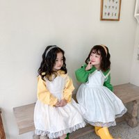 Spring Little Princess Cotton Long Sleeve Dress Set Lolita style Baby Girls Cute Birthday Party Dress Kids Clothing 210510