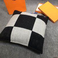 Smelov Moda Vintage Fleece Travesseiro Fronha Letra Luxuosa Cobertura Europeia Coberturas Lã Lance Luxo Fronhas 45x45cm
