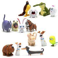 14pcs set Cartoon Animals Dog Rabbit Pvc Action Figures Mini Animal Cat Bird Model Figure Toys Set Gifts for Children