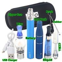 Hotsale 4 in 1 Multi Vape Pen Kit di avviamento per Herb Herb Wax DAB Olio spessa ELIQUID EGO UGO 4IN1 E-CIT VAPorizer Kit