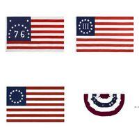 3 * 5 Fuß 2021 America Independence Day Celebrity Flaggen 90 * 150 cm 13 Sterne US USA 1777 American Betsy Ross Flag HWB5851