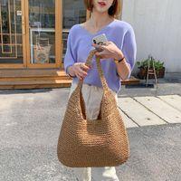 Bag Parts & Accessories Casual Straw Women Shoulder Bags Wicker Woven Ladies Handbags Handmade Summer Beach Rattan Female Messenger Large To