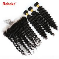 9A класс перуанских человеческих волос пакеты с лобной волной бородавья прямые свободные глубокие волны пакеты волос 100 Chevaux Heavens Lace Frontal