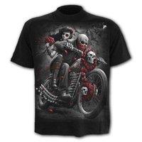 Men's T-Shirts Summer Fashion T-shirt Punk Skull Men 3D Printing Mens Oversized Casual For Man Streetwear