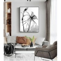 Paintings Wall Art Painting Decorative Picture Home Decor Nordic Black White Plant Abstract Flower Canvas Posters Prints Minimalist