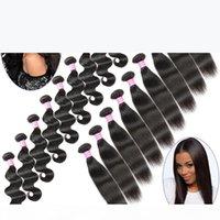 도매 브라질 스트레이트, 바디 웨이브 버진 인간의 머리카락 연장 10 20 30 50 번들 100 % 처리되지 않은 8A 레미 인간의 머리카락 위크 위사