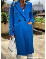 Women's Fur & Faux Women Autumn Trench Coat Ladies Winter Suit Jacket Blazer