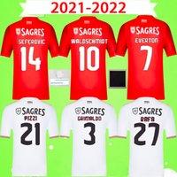 قمصان كرة القدم بنفيكا 2021 2022 21 22 WALDSCHMIDT RAFA Camisola de Futebol PIZZI قمصان كرة القدم CERVI DARWIN CHIQUINHO الرجال الزي الرسمي المنزل بعيدًا مجموعة الأطفال الثالثة