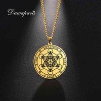 Yutong Dawapara Archangel Metatron Ange Angel of Life Peam Solomon Подвески Ожерелье для мужчин Из Нержавеющей Стали Ювелирные Изделия Викинг Ожерелья
