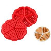 Cozinha Bakeware Waffle Molde Non-Stick Silicone Moldes Moldes DIY DIY Pastelaria Scone Panelas Ferramentas Pão Pizza Moldes