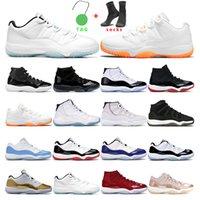 Chaussures de basketball hommes 11S Jumpman 11 Citrus Legend Blue Low 25e Anniversaire Bred Concord Space Space Jam Women Sports Sneakers Formateur