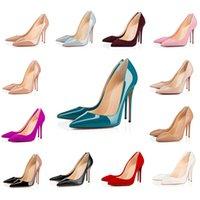 Top Quality Vermelho Bottom Senhoras Ladies Alto Color Cor Sandálias Pointed Moda Banquete Estilista Sapatos Senhoras Vestido Sapatos Sapatos de Couro S I5PL #