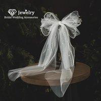 Bridal Veils CC Veil Wedding Hair Accessories For Women Hairwear Engagement Jewelry Butterfly Shape 100% Handmade Short QS118