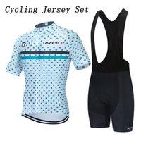 Set da corsa in jersey in bicicletta Punto di stampa Dot Tessuto traspirante Anti Pad Bucyle Abiti Unisex Abbigliamento Abbigliamento Sportwear BMX BMX