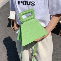 Cross Body Crocodile Pattern Tote Bag 2021 Fashion High-quality PU Leather Women's Designer Handbag Small Travel Shoulder Messenger