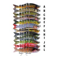 Baits Lures Sports & Outdoorsrealistic Mti-Jointed 3D Fish Six Segmented Body Fishing Lure 12Cm 18.5G S-Shaped Swimming Lipless Laser Musky