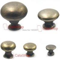 "Furniture Accessories 10 Pcs   Lot 19mm 0.75"" Antique Brass Cabinet Dresser Drawer Cupboard Jewelry Box Door Window Pull Handle Knob"