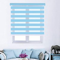 Zebra Blind Finished Curtains Double Layer Roller Shades Light Adjust For Study Living Room Curtain & Drapes