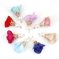30mm 1Pcs Pearls Flowers Tassels Earring Jewelry Pendant Multicolor Garment Decoration Accessories Materials Findings Supplies