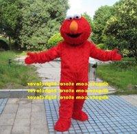 Langer Pelz Elmo Monster Cookie Maskottchen Kostüm Erwachsene Cartoon-Figur-Outfit-Anzug große Aktivitäten, lustige lustige cx2006