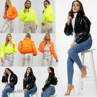 2021 Women's Jackets Winter Short Glossy Down Jacket Women Parkas Fashion Korean Thick Warm Bread Service Cotton-Padded Coat Female Out lulu365