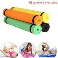 Yoga Mat Anti-Skid Sports Fitness 4mm Espessura Eva Conforto Espuma para Exercício, Yoga e Pilates XQ tapetes