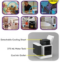 Portable Air Cooler,Personal Evaporative LCD Air Cooler and Humidifier Air Conditioner Mini Fans KKB7893