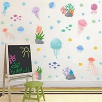 Sea World Stickers For Kids Room Decoration Accessories Teen Girls Aesthetic Wall Autocollant